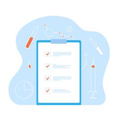 Medical record health id card checklist vector