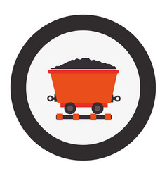 mining wagon isolated icon vector image