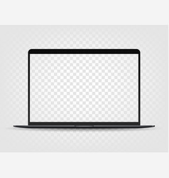 modern laptop with transparent screen mockup vector image