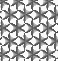 Monochrome gradually striped black pointy flowers vector