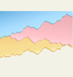 multi-layer colored cream drips vector image