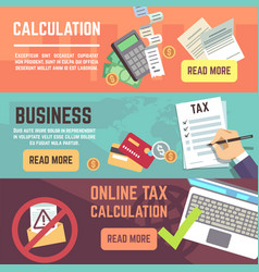 Online tax accountanting taxation business vector
