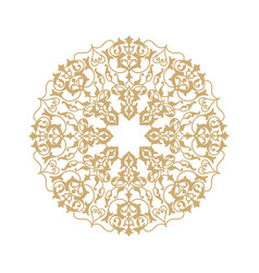 Ornamental round floral pattern mandala oriental vector