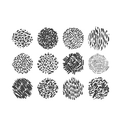 Pen scribble brush pack various textures vector
