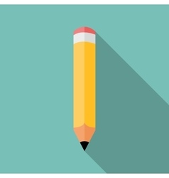Pencil icon colored flat vector image
