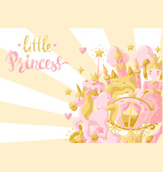 princess party items background vector image