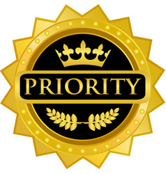 Priority gold icon vector