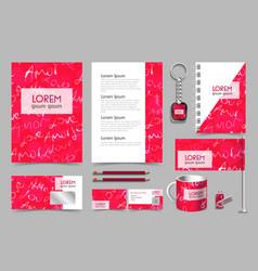 professional universal abstract branddesign kit vector image