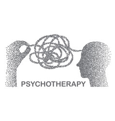 Psychotherapy concept with hands vector