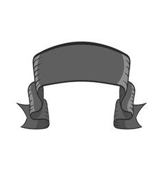 Ribbon icon black monochrome style vector image