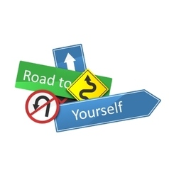 Road to yourself vector image
