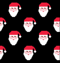 Santa seamless pattern christmas wallpaper xmas vector