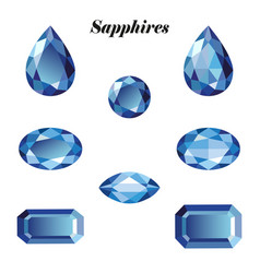 Sapphires set isolated vector