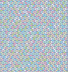 seamless colorful cube pattern vector image