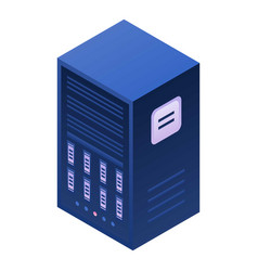 Server station icon isometric style vector