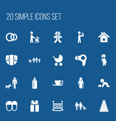 Set of 20 editable relatives icons includes vector