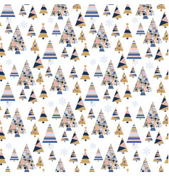 snowflake winter design season december snow trees vector image