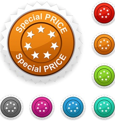 Special price award vector