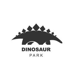 stegosaurus dinosaur logo design element jurassic vector image