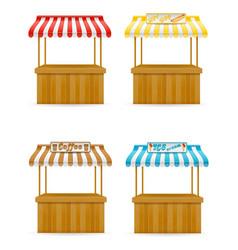 Street food stall vector