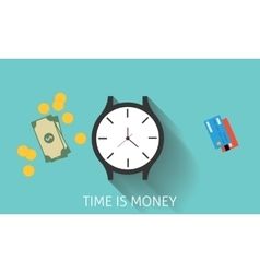 Time is money or invest in time vector