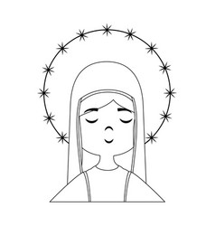 virgin mary cartoon vector image