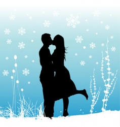 winter love vector image