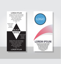 Business flyers and brochures with circle shape vector