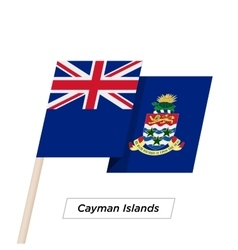 Cayman Islands Ribbon Waving Flag Isolated on vector image
