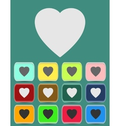 human heart icons or symbols for love vector image vector image