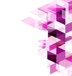Modern purple geometrical abstract template vector image