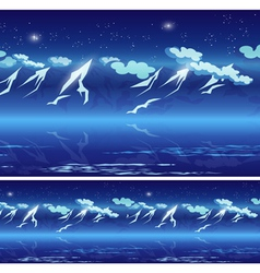 mountains at night vector image