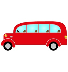 Red bus vector