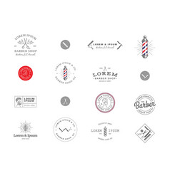 set of minimal vintage hipster logotype templates vector image