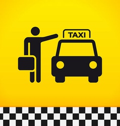 Taxi Theme with Passenger vector image vector image