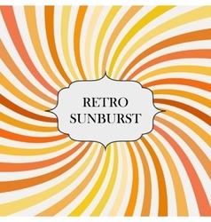 with retro sunburst background vector image