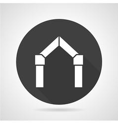 Arch gateway black round icon vector image vector image