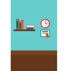 Background of interior of room for pupil vector image