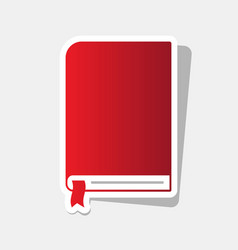 book sign new year reddish icon with vector image
