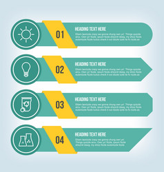infrastructure infographic in teal and yellow vector image vector image