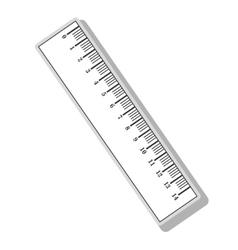Ruler measurement tool vector image