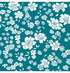 Seamless floral pattern in retro style vector image vector image