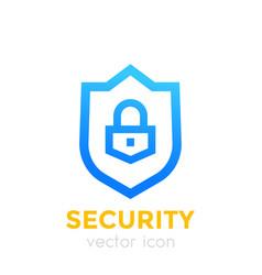 shield icon security concept vector image