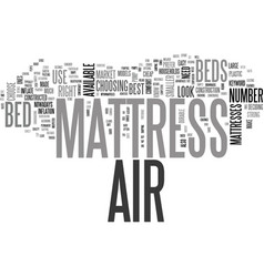 air mattress bed text word cloud concept vector image vector image