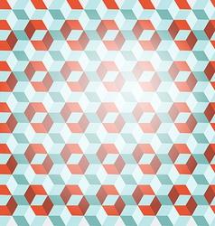 Cube retro background vector
