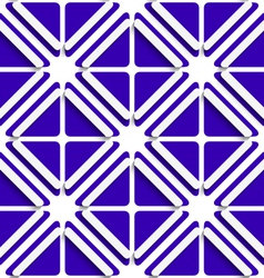 Diagonal white frames and deep blue pattern vector image