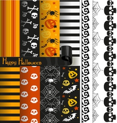 Happy Halloween paper and lace for scrapbook vector image vector image