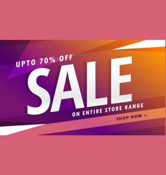 purple sale banner design for marketing vector image vector image