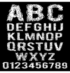 Set of broken white alphabet vector