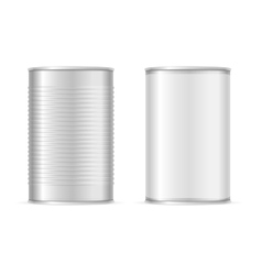 Set of Metallic Tin Cans vector image